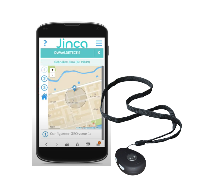 Mobiel alarm met dwaaldetectie