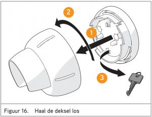 Puck keysafe gebruiksaanwijzing figuur 16